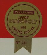 Monopoly leeds limited sticker
