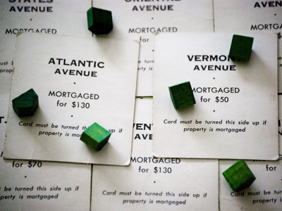Image result for monopoly mortgage