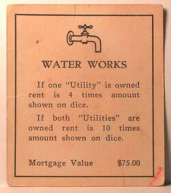 Vintage 1930s Water Works deed