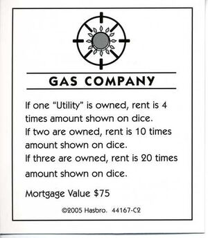 Gas company deed