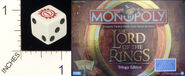 D6 OPAQUE ROUNDED SOLID PARKER BROTHERS LORD OF THE RINGS MONOPOLY 01