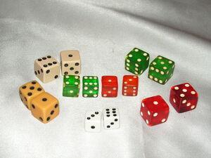 Monopoly dice - 1940s through 1950s