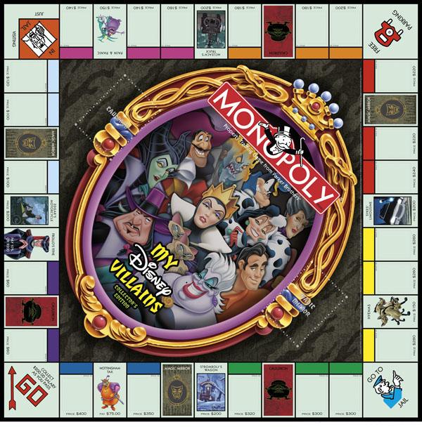 Monopoly My Disney Villains Collectors Edition board
