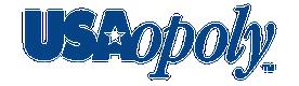 Usaopoly logo blue