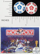D12 OPAQUE ROUNDED SOLID WADDINGTONS WORLD CUP 98 MONOPOLY 01
