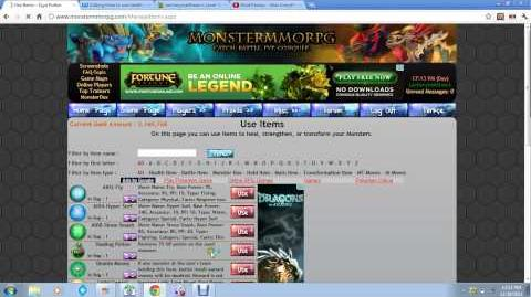 Monstermmorpg health item tutorial