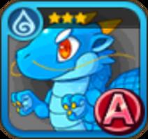 Blue Snake Icon