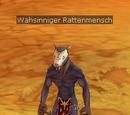 Wahnsinniger Rattenmensch