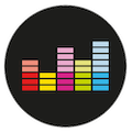 Deezer (Black) Logo Circle