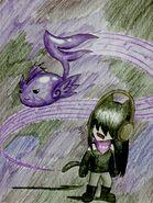 Monstercat Werecat encountering a Dark Tone by TheToxicGemstone