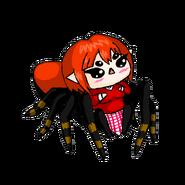 Cardinal jumping spider arachne chibi