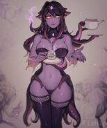 Mind flayer monster girl encyclopedia drawn by matilda fiship 8e4c5423f2d47f6973e172180dae961b