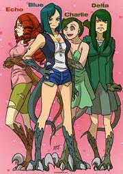 The raptor squad monster girls by kukuruyoart-d901y3u