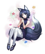 Black Haired kitsune by MariTan