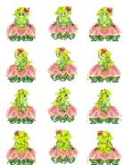 Alraune monster girl sprite by tsarcube-d3hlcfn