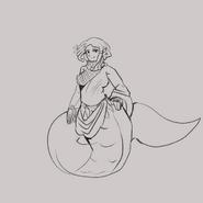 Medusa in dress