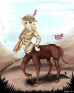 Female centaur england by jay87k-d7vfjoq