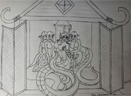 B&W Ryu Temple Harem