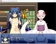 Neris and Shirohebi in Snake Shrine