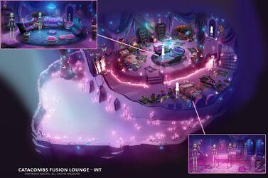 Concept art - FF catacombs lounge inside