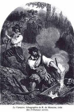 Monster history - litho vampire destruction
