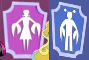 Cartoon composite - bathroom logos