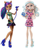 Doll stockphotography - Scare & Makeup Clawdeen and Viperine