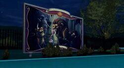 Ghouls Rule - New Salem circus billboard