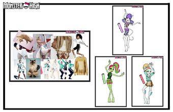 Concept art - Fangtastic Fitness moodboard