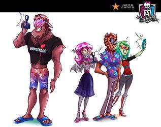Concept art - FCA four tourists