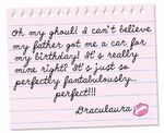 Tumblr - birthday car letter