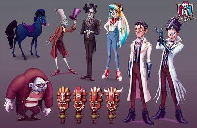 Concept art - seven CGI characters