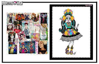 Concept art - Collector Skelita moodboard