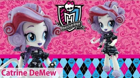 Catrine DeMew New Custom Monster High Doll from Equestria Girl Mini Tutorial Evies Toy House