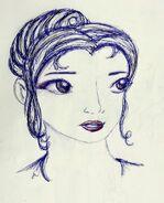 Kimiko szkic twarzy