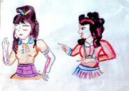 Taki sobie rysunek Miusy i San-Hee