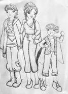 Sonam, Kimiko & Milo - szkic