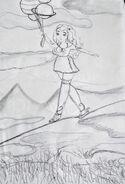 Sunita na linie szkic