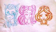 Blair San-Hee i Justine kolorami rysowane