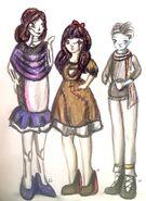 Tempie, Xena i Niko TWAN szkice