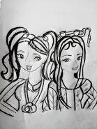 San-Hee & Madiredalineida szkic