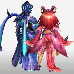 FrontierGen-Tsukihi Armor (Both) (Back) Render