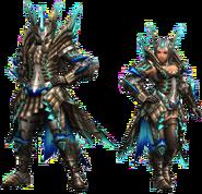 FrontierGen-Shourou G Armor (Blademaster) Render 2