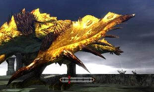 MH4U-Gold Rathian Left Wing Break 001