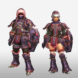 FrontierGen-Okami Armor (Gunner) (Front) Render