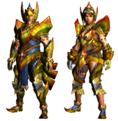 MHGU-Najarala Armor (Blademaster) Render