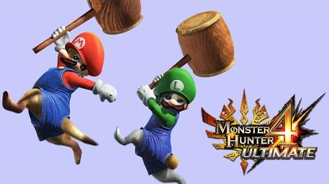 Monster Hunter 4 Ultimate - Mario and Luigi Palico equipment