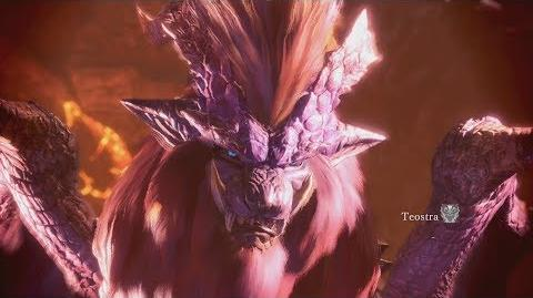 Monster Hunter World Teostra Boss Fight 27 (Solo Long Sword)