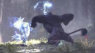 【MHWI】ラージャン VS キリン(縄張り争い)