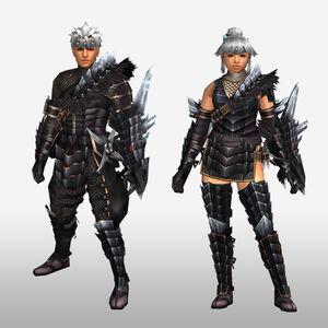 FrontierGen-Kuroin G Armor (Gunner) (Front) Render